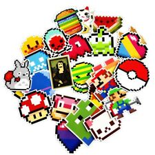 25Pcs Cute Stickers Mixed Fun Cartoon Mosaic Pixels Decals Luggage Stickers Hot