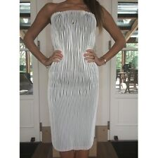**GUCCI** White Stretch Leather Corset Dress
