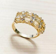 4.0ctw  GENUINE CITRINE STONE & DIAMOND RING #9 NEW !