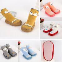 Cartoon Animals Baby Toddler Kids Anti-slip Crawling Socks Shoes Slipper Boots