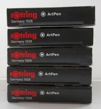 5 x Packs Rotring Art pen Black Ink Cartridges ~ S0194751