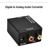 Digital to Analog Audio Converter Adapter DAC 2.1CH Toslink Signal RCA for DVD