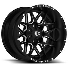 SET OF 4 NEW KX OFFROAD KX05 22X10 8X170 -24 BLACK MILL 4X4 FORD F250 F350