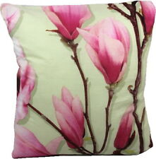 Vintage Retro 50/60's style Pink Magnolia cushion cover made in the UK