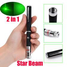 Portable 900Miles Green Laser Pointer Pen 532nm Single Beam Light Star Cap Lazer