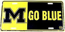 NCAA License plate University of Michigan M GO BLUE New aluminum USA LP-0820