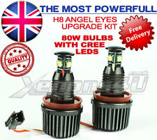 BMW E92 E93 M3 E82 E70 X5 H8 80W CREE High Power LED ANGEL EYES HALO RING CONTRASSEGNO