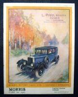 MORRIS RANGE CAR SALES BROCHURE FOR 1927.