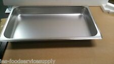 """(6) Full Size 2"""" Deep Stainless Steam Table Pans Food Pan Hot Table Steam Pan"""