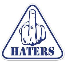"F*ck Haters Funny Rude car bumper sticker decal 4"" x 4"""