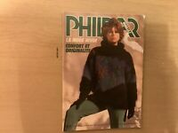 PHILDAR KNITTING PATTERN BOOK 1983 In French 30 Plus Patterns Sweaters Socks