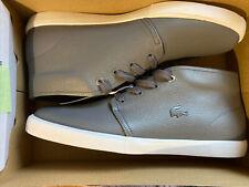 Lacoste Asparta Men's Leather Shoes Boots Size 10 Dark Gray