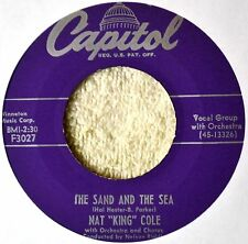 Nat King Cole Sand and the Sea 45 NICE Darling Je Vous Aime Beaucoup Orig 1950s
