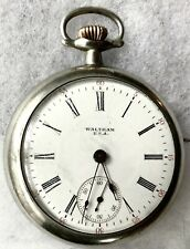 WALTHAM USA Pocket Watch 17 Jewel Movement #18890673 Philadelphia Silverode Case