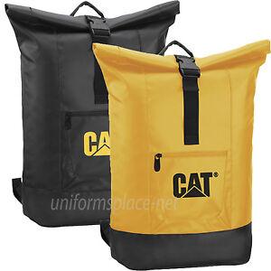 "Caterpillar 17"" Laptop Backpack CAT ARCHES Roll Top Shoulder Backpack Bag 83221"