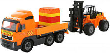 Toy Truck With Fork Lift And Construction Set Volvo Lorry Play Car Large 86cm