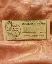 Dr Scholl's Toe Flex 1923 Advertisement