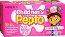 Childrens Pepto Chewable Tablets Bubble Gum 24 Each (Pack of 5)