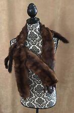 Mink Stole 4 Full pelts Body fur women shawl brown wrap coat vintage head feet