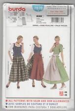 Burda Sewing Pattern 7870 German Folk Dirndl Skirt Top & Apron Costume Sz 12-30