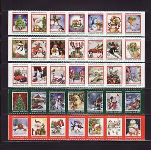 2019 U.S. National & Test Design Christmas Seal Collection, As Required