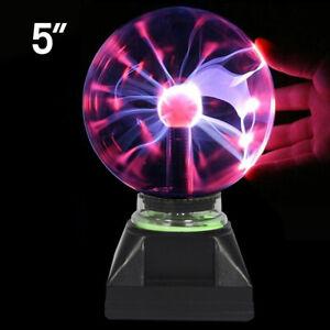 Plasma Ball Plug Magic Crystal Globe Desktop Light Lightning Lamp Nebula Sphere