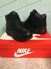 NIKE AIR MAX GOADOME 2013 TRIPLE BLACK BOOTS WATERPROOF 599474 050 MEN'S SZ 10