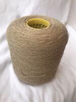 UK 100/% Lambswool Yarn In Fawn Marl 500g Cone.4plyHand//machine Knit SaleSave£3