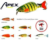 APEX LIFELIKE Painted Fish Spoons - Select Color, Size and Quantity