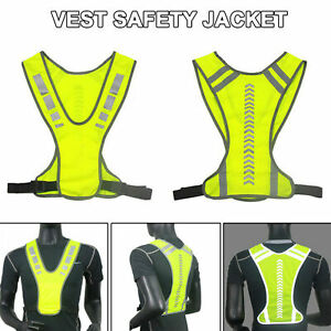 Safety High Visibility Reflective Vest Hi-Vis Jacket for Night Running Cycling
