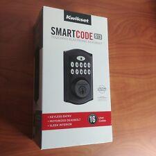 Kwikset SmartCode Electronic Deadbolt featuring SmartKey Venetian Bronze Keyless
