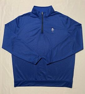 Peter Millar Crown Weston Golf Club Skulls Monogram 1/4 Zip Men's Pullover Sz L