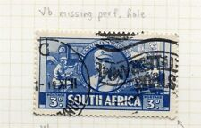 South Africa Large War Effort 1941 Fine Used 3d. Plate Flaw 145377