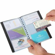 Top Holder Business Name Leather ID Credit Card Case 120 Cards Book Keeper