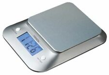 Hanson Electronic Compact Kitchen Scale with Clock , Back Light, 3kg Silver