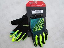 FLY racing KINETIC motocross gloves YOUTH size 4 LARGE  369-61804 hi-viz