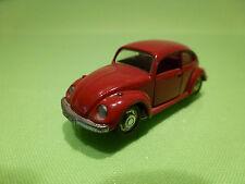 SCHUCO 818 VW VOLKSWAGEN KAFER BEETLE 1302S - RED 1:66 - GOOD CONDITION