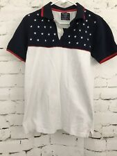 Hackett London Red White And Blue Stars Polo Shirt (Tailored Fit) Medium  013
