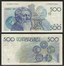 BELGIO - 500 Francs 1982-98  VF  Pick 143a