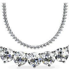 "16 - 17.99"" Round SI1 Fine Diamond Necklaces & Pendants"