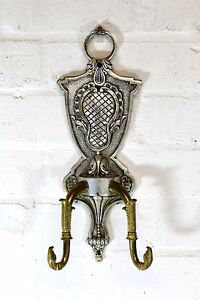 Brass Wall Coat Hooks made from Antique French Wall Lights & Chandeliers