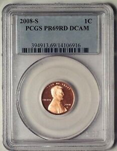 2008-S Lincoln Proof Memorial Reverse Penny PCGS PR69RD DCAM 1 Cent Coin