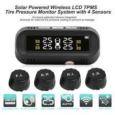 USB+Solar Wireless TPMS LCDCar Tire Tyre Pressure Sensor Monitoring External Kit