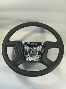 2007-2013 SILVERADO SIERRA BLACK STEERING WHEEL WITH CRUISE CONTROL NEW 22947808