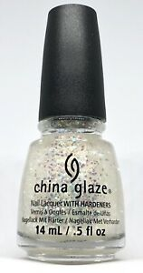 China Glaze Nail Polish This One's For You 1269 Iridescent Hex Glitter Topper