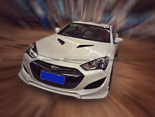 New 3Pcs Front Bumper Lip For Hyundai Coupe Rohens Genesis 13-15 Only MS FRP