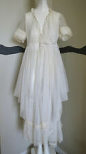 Antique 1920s Wedding Dress French Net