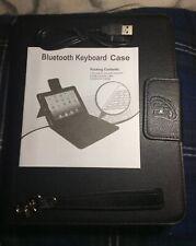 NEW*LEATHER BLUETOOTH KEYBOARD CASE FOR IPAD 2/3/4*W/STYLUS*LIST $80/SALE $22.75