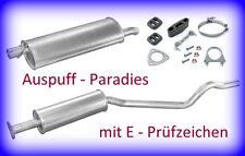 Abgasanlage Auspuff Opel Kadett E CC 1.3 / 1.4 / 1.6 / 1.8 & 2.0 bis 08/91 + Kit