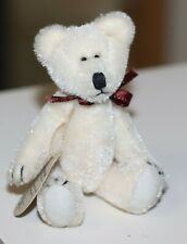 """vintage Boyds Bears T. F. Wuzzies Plush Miniature Bear Ivory w/tag 3"""" jointed"""